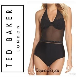 TED BAKER LONDON KESIA BLACK ONE PIECE SWIMSUIT